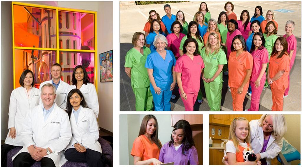 Team of pediatric dentists, orthodontist, hygienist at Kids Dental Online