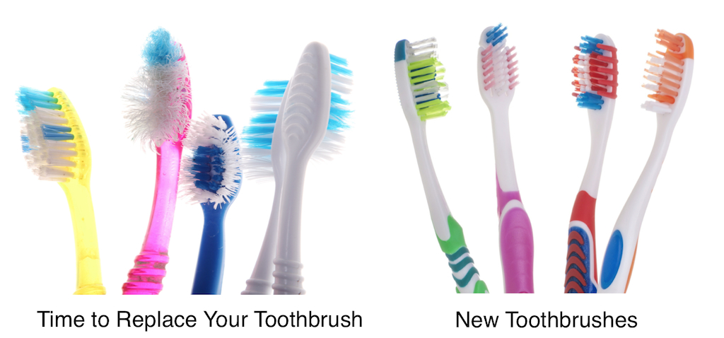 worn out toothbrushes