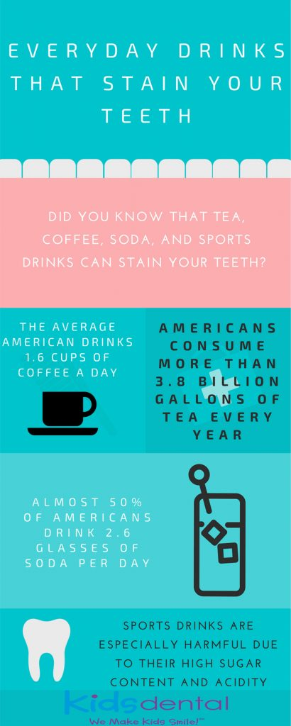 Drinks and food that stain teeth explained by Kids Dental Online